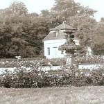 Ansicht des Rosengartens in den 70er Jahren