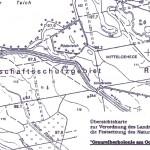Karte über Graureiherkolonie