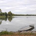 Fischerboot am Großteich