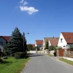 Dorfstraße in Peritz