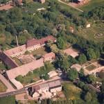Luftbild auf ehemaliges Rittergut in Tiefenau