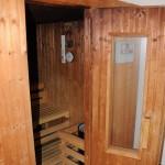 In den Kellerräumen die Sauna