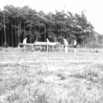 Abstecken des Terrains