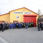 Die Kameraden der Feuerwehr Koselitz