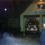 Ausfahrt  altes Feuerwehrauto