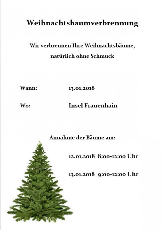 Weihnachtsbaum Ab Wann.Gemeinde Röderaue Aktuelles Der Weihnachtsbaum Brennt Am 13 01